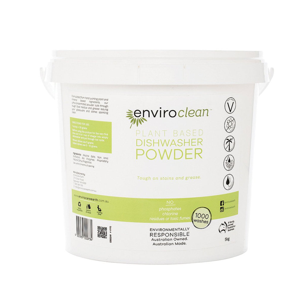 EnviroClean Plant-Based Dishwasher Powder 5kg - Strive Organic