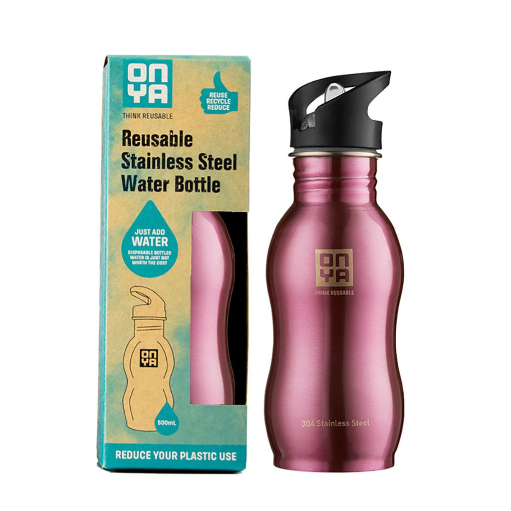 H2Onya Stainless Steel Bottle 500ml Pink - Strive Organic