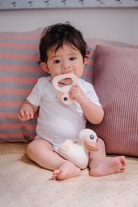 Hevea Kawan Teether and Natural Rubberwood Rattle Gift Set