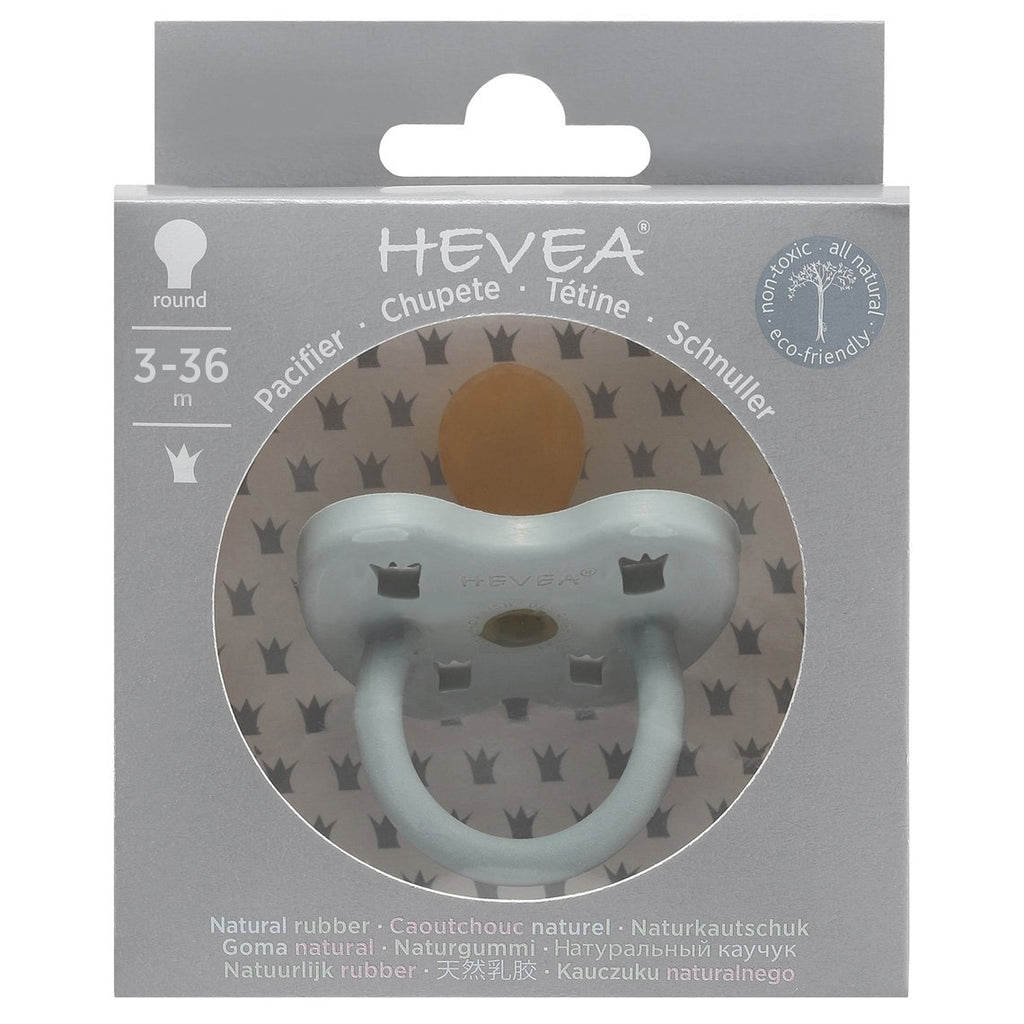 Hevea Coloured Natural Rubber Orthodontic Pacifier (Gorgeous Grey) 3-36 months - Strive Organic