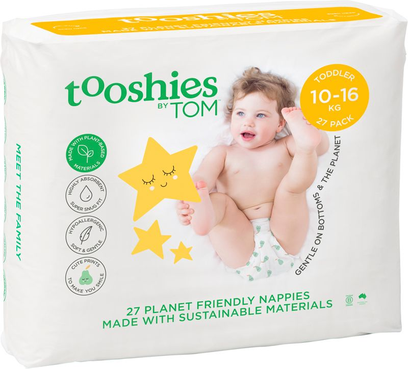 Tooshies by TOM Nappies Toddler 10-16kg (27 Pack)
