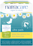 Natracare Ultra Pads Regular with Organic Cotton Cover 14 Pack (Wings)
