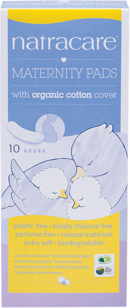 Natracare Maternity Pads with Organic Cotton Cover 10 Pack
