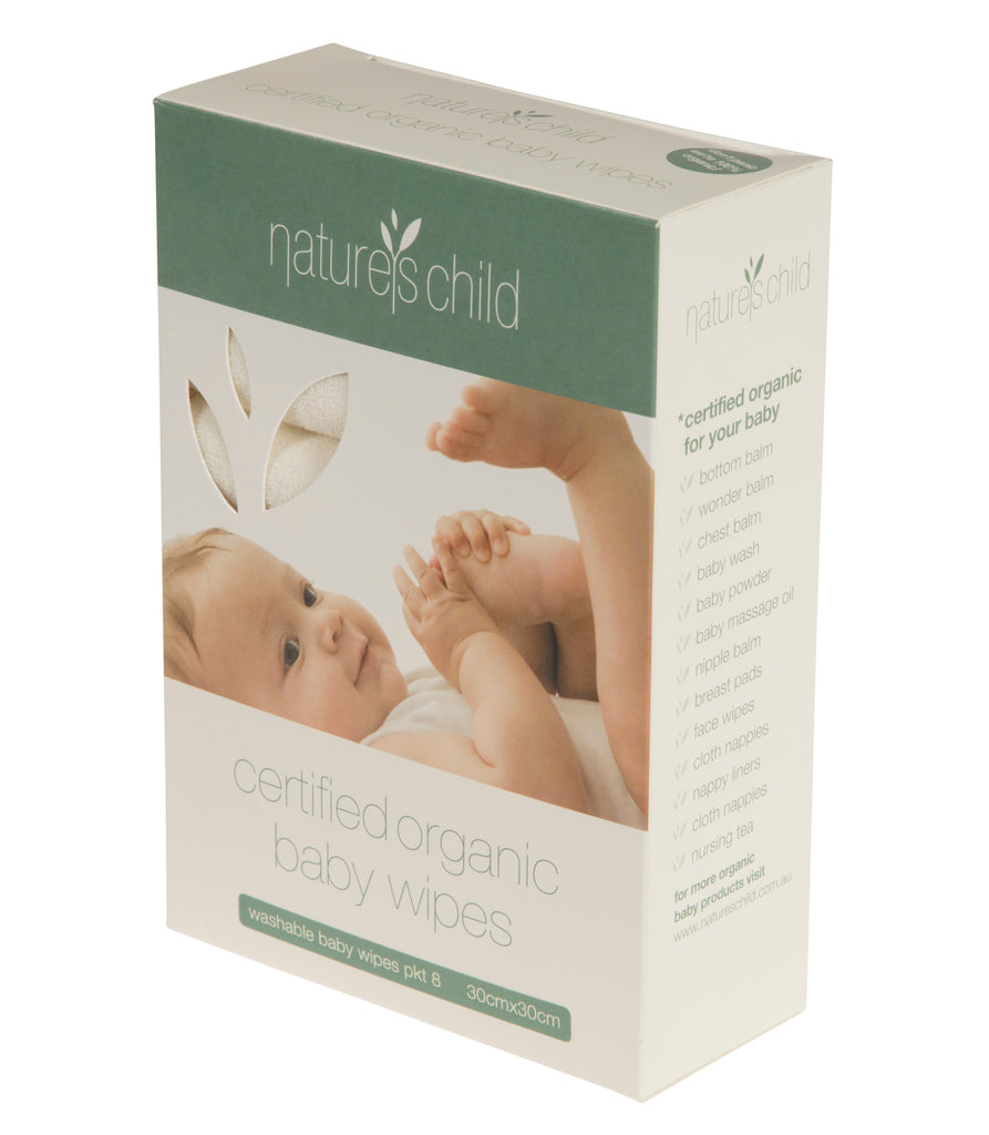 Nature's Child Certified Organic Cotton Baby Wipes - 8 Pack