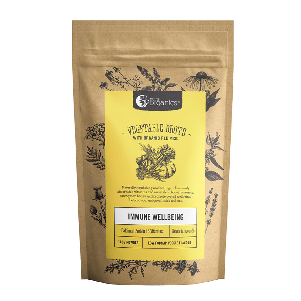 Nutra Organics Vegetable Broth (Low FODMAP) 100g Powder