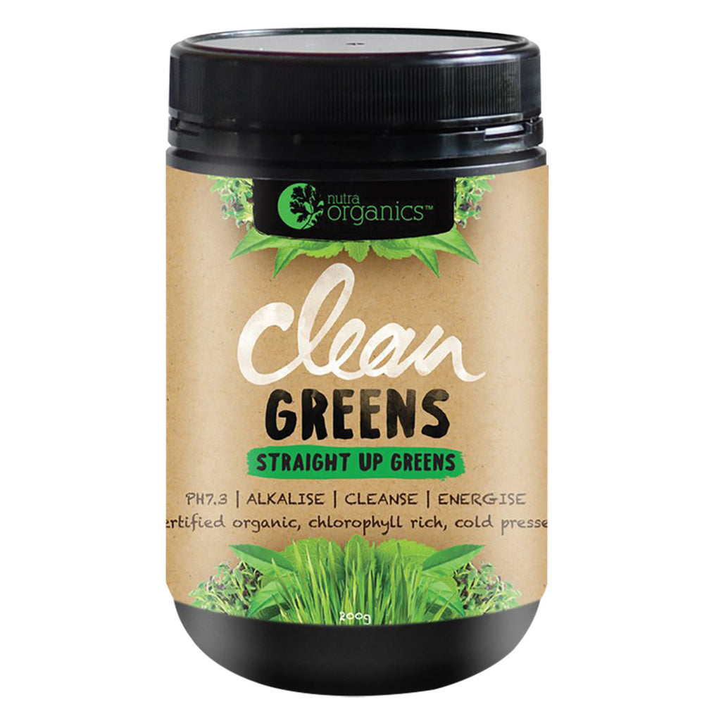 Nutra Organics Clean Greens 200g Powder