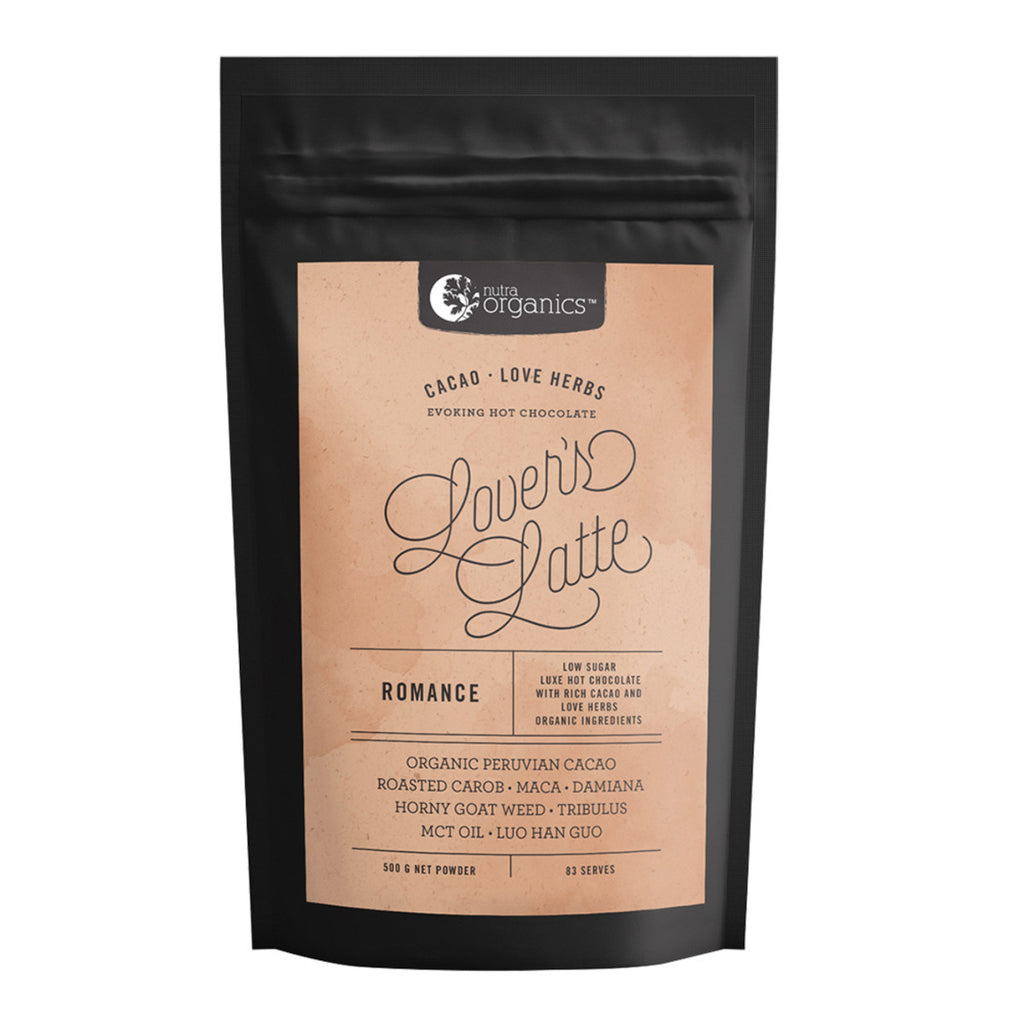 Nutra Organics Lovers Latte (Cacao and Love Herbs) 500g Powder