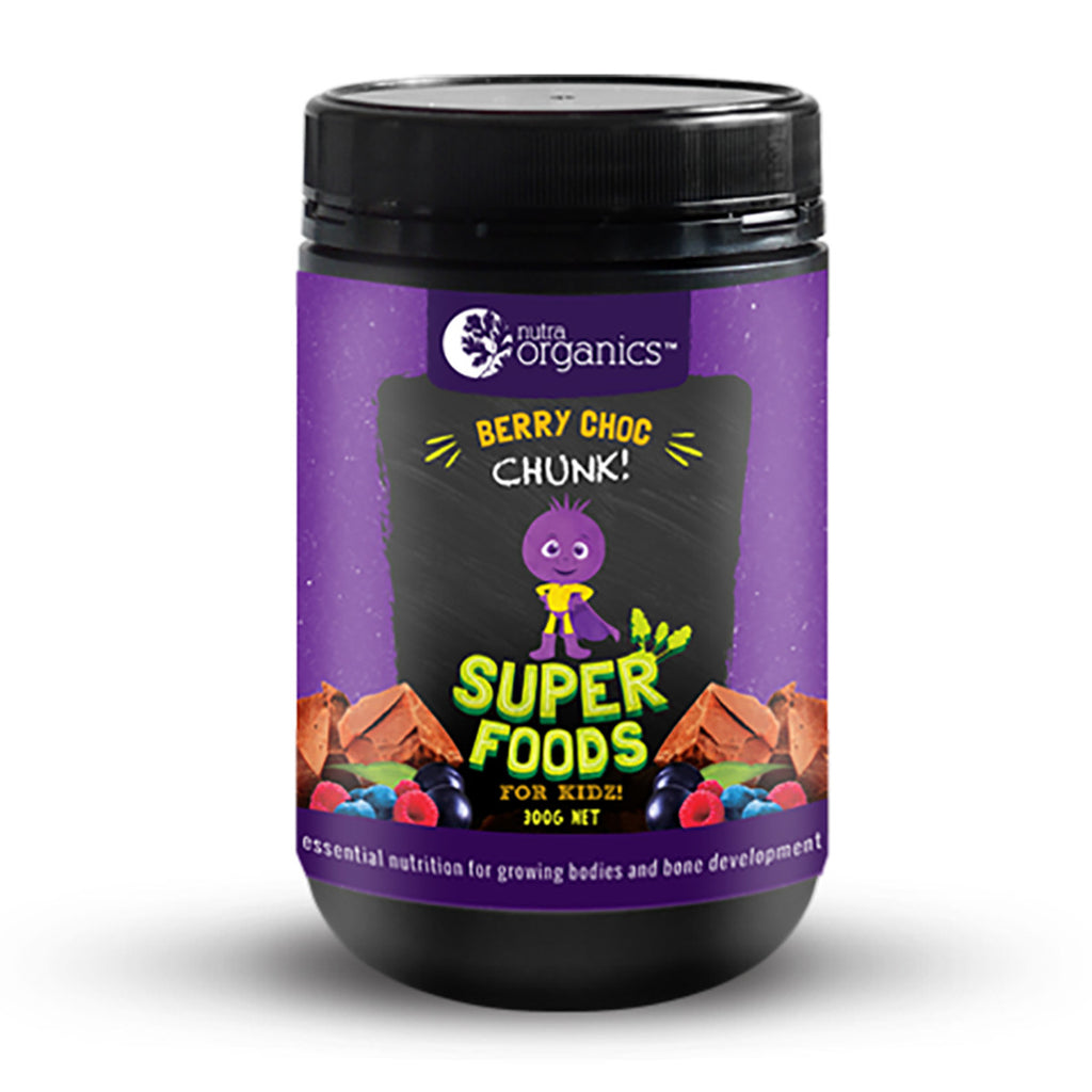 Nutra Organics Super Foods for Kidz (Berry Choc Chunk) 300g Powder