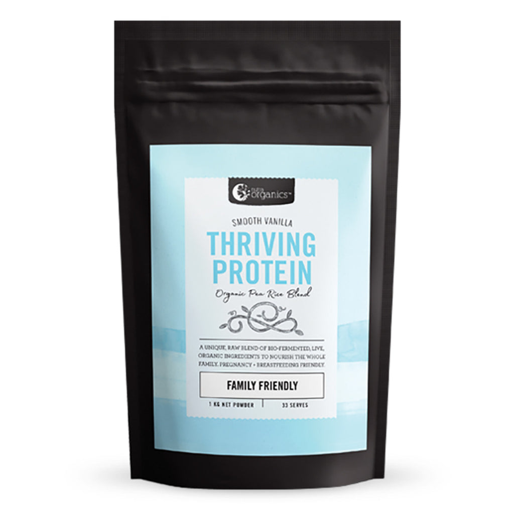 Nutra Organics Thriving Protein (Organic Pea Rice Blend) Smooth Vanilla 1kg