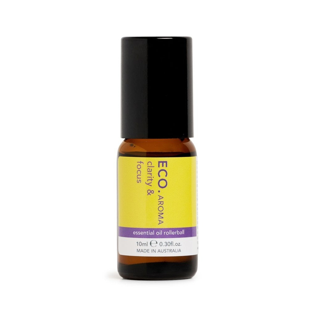 Eco Clarity and Focus Rollerball Essential Oil Blend 10ml - Strive Organic