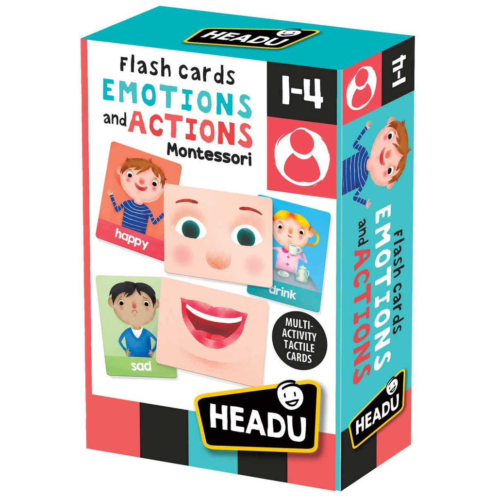 HEADU Montessori Flashcards Emotions and Actions (Ages 1-4) - Strive Organic
