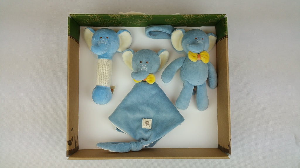 MiYim Gift Set (Rattle, Lovie and Stroller Toy) Elephant