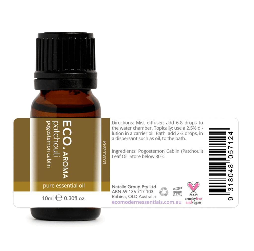 Eco Patchouli Pure Essential Oil 10ml - Strive Organic
