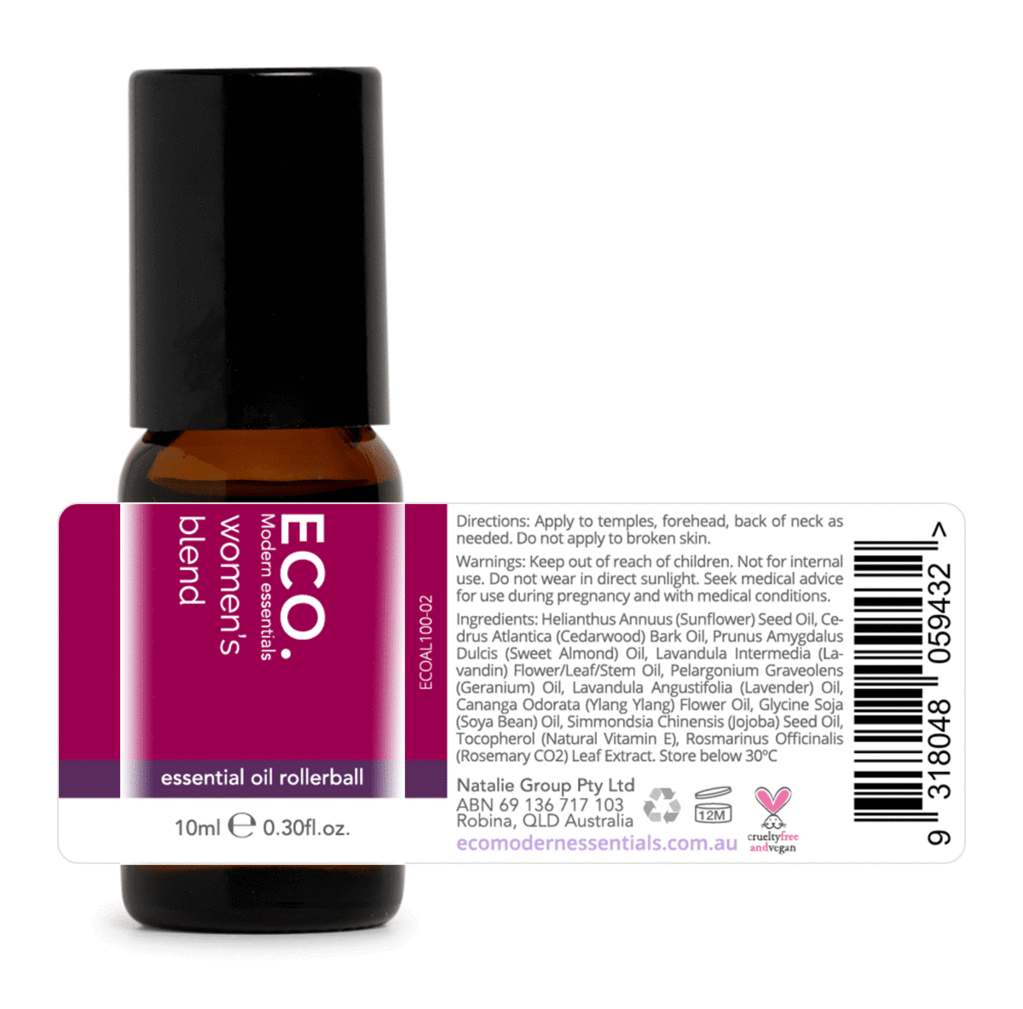 Eco Women's Blend Rollerball Essential Oil Blend 10ml - Strive Organic