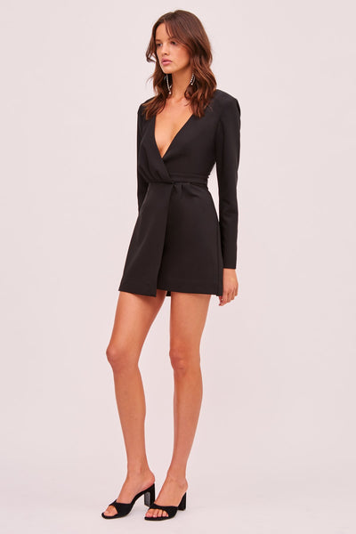 Finders Keepers Victoria Black Mini Dress