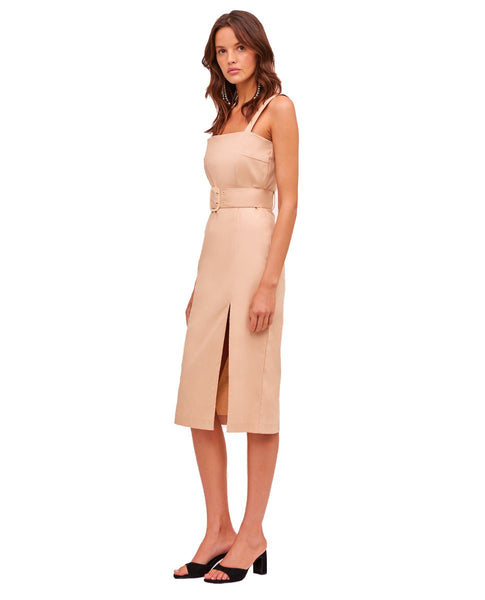 Finders Keepers Lottie Nude Midi Dress