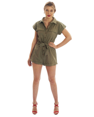 Seven Wonders Khaki Playsuit