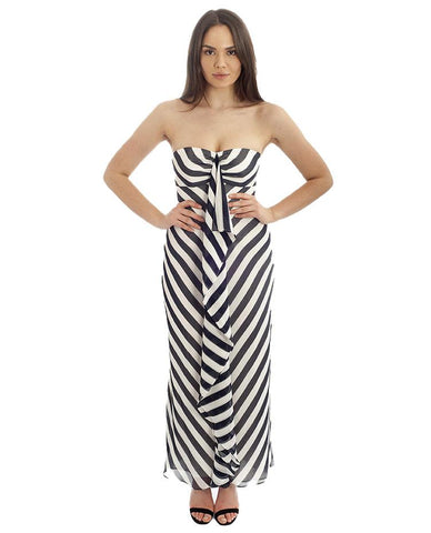Coast Blue & White Striped Maxi