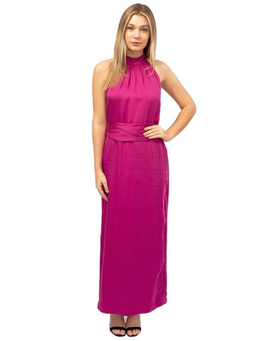 French Connection Pink Belted Maxi Dress