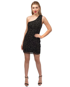French Connection One Shoulder Sequin Dress