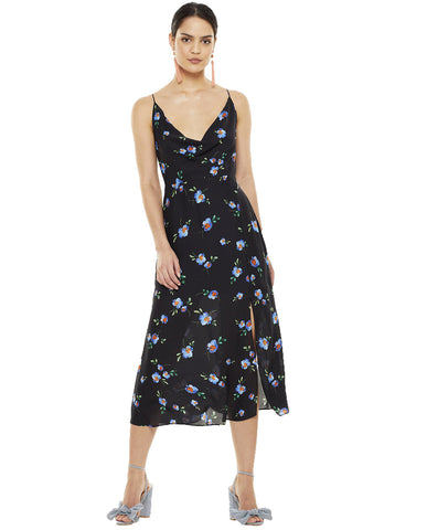 Talulah Azure Flounce Midi Dress