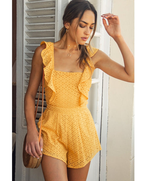 Runaway The Label Mango Playsuit With Frill Detail