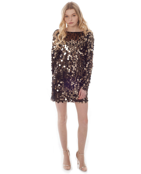 Motel Malia Black Sequin Dress