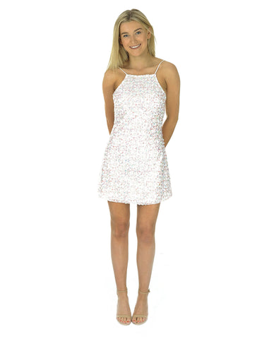 Motel Sequin Confetti Mini Dress
