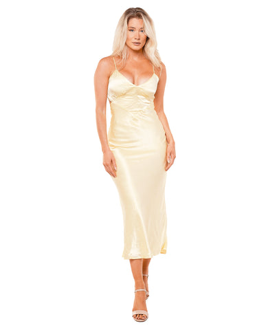 Bardot Yellow Malinda Slip Dress