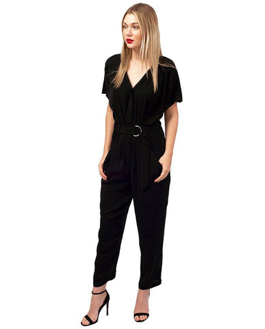 Whistles Black Jumpsuit With Belt Detail