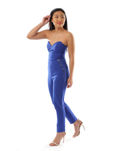 Rent dress | ASOS bright blue jumpsuit | Hirestreetuk.com