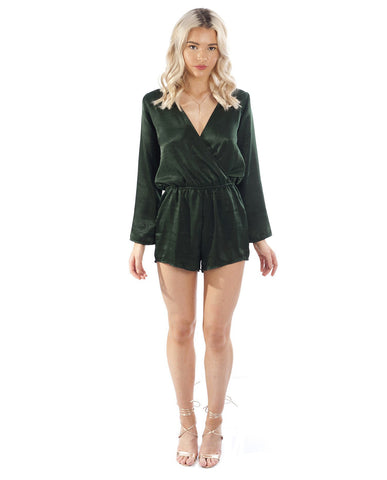 Dancing Leopard Green Playsuit