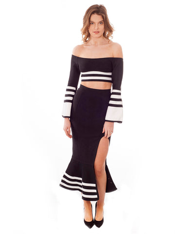 Monochrome Fishtail Two Piece