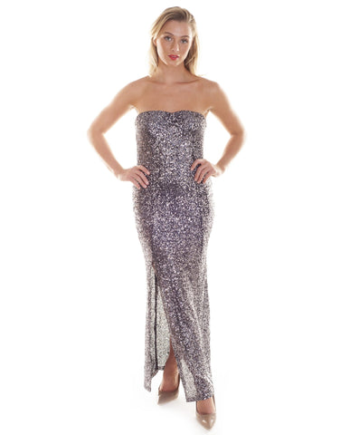 Oh My Love Bandeau Sequin Maxi Dress