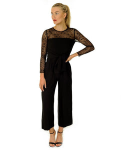 Zara Black Lace Jumpsuit