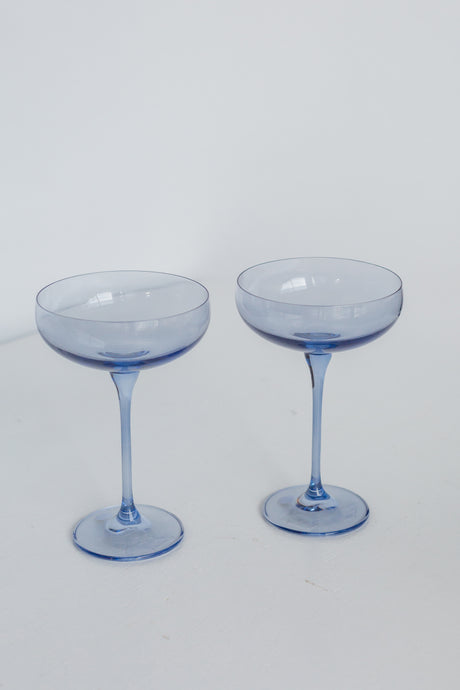 Estelle Colored Champagne Coupe Stemware - Set of 2 {Cobalt Blue}
