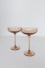 Load image into Gallery viewer, Estelle Colored Champagne Coupe Stemware - Set of 6 {Amber Smoke}