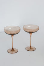 Load image into Gallery viewer, Estelle Colored Champagne Coupe Stemware - Set of 2 {Amber Smoke}
