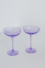 Load image into Gallery viewer, Estelle Colored Champagne Coupe Stemware - Set of 6 {Lavender}