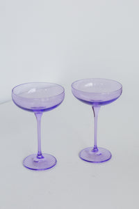 Estelle Colored Champagne Coupe Stemware - Set of 2 {Lavender}