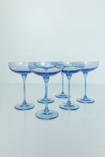 Load image into Gallery viewer, Estelle Colored Champagne Coupe Stemware - Set of 6 {Cobalt Blue}
