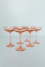 Load image into Gallery viewer, Estelle Colored Champagne Coupe Stemware - Set of 2 {Blush Pink}