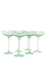 Load image into Gallery viewer, Estelle Colored Champagne Coupe Stemware - Set of 6 {Mint Green}