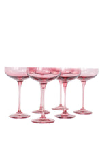 Load image into Gallery viewer, Estelle Colored Champagne Coupe Stemware - Set of 6 {Rose}