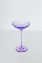 Load image into Gallery viewer, Estelle Colored Champagne Coupe Stemware - Set of 2 {Lavender}