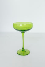 Load image into Gallery viewer, Estelle Colored Champagne Coupe Stemware - Set of 2 {Forest Green}