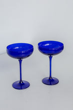 Load image into Gallery viewer, Estelle Colored Champagne Coupe Stemware - Set of 2 {Royal Blue}