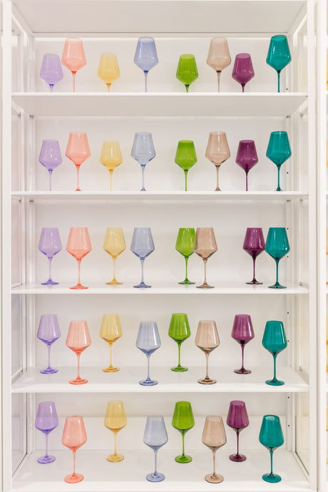 Estelle Colored Wine Stemware {Custom Set}