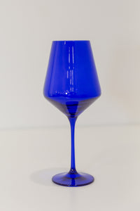 Estelle Colored Wine Stemware - Set of 6 {Royal Blue}