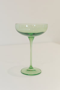 Estelle Colored Champagne Coupe Stemware {Mint Green}